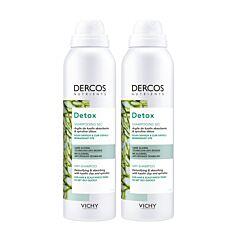 Vichy Dercos Nutrients Detox Shampooing Sec Cheveux & Cuir Chevelu Regraissant Vite Spray PACK DUO 2x150ml