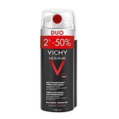 Vichy Homme Déodorant Anti-Transpirant Triple Diffusion 72h Spray PROMO Duo 2x150ml