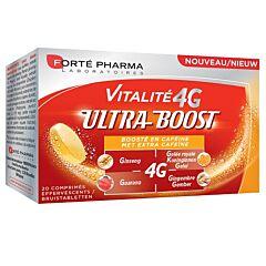 Forté Pharma Vitalite 4G Ultra Boost Cafeïne 20 Bruistabletten