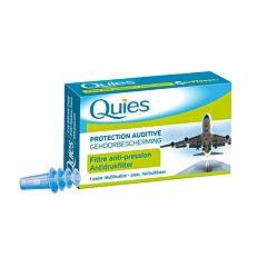 Quies Protection Auditive Avion Filtre Anti-Pression Adulte 1 Paire