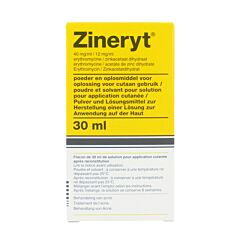Zineryt 40mg/ml 12mg/ml Poudre & Solvant pour Solution pour Application Cutanée 30ml