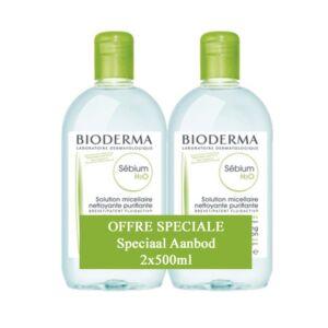 Bioderma Sébium H2O Solution Micellaire Peaux Mixtes et Grasses Flacon PROMO 2x500ml