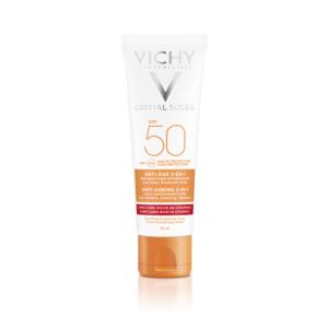 Vichy Idéal Soleil Anti-Âge Soin Antioxydant 3-en-1 IP50 Tube 50ml