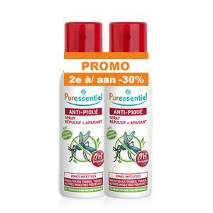 Puressentiel Anti-Pique Répulsif & Apaisant Zones Infestées Spray 2x75ml PROMO 2ème à -30%