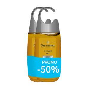 Dermalex Huile de Douche Douce Peau Normale Flacon PROMO 2x250ml 2ème -50%