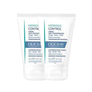 Ducray Hidrosis Control Crème Anti-Transpirante Visage, Mains & Pieds PROMO 2ème-50% 2x50ml