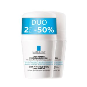 La Roche-Posay Déodorant Physiologique 24h Roll-On PROMO Duo 2x50ml