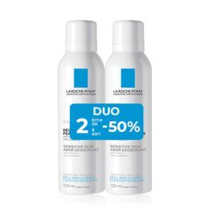 La Roche Posay 48H Deodorant Gevoelige Huid Duo 2x150ml  Promo 2de -50%