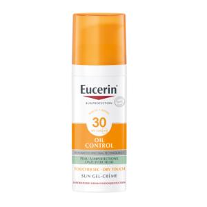 Eucerin Sun Oil Control Gel-Crème Toucher Sec Visage IP30 Flacon Airless 50ml