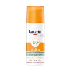 Eucerin Sun Oil Control Gel-Crème Toucher Sec Visage IP50+ Flacon Airless 50ml