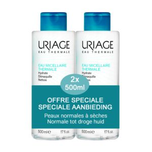 Uriage Eau Micellaire Thermale Peaux Normales à Sèches PROMO Pack Duo 2x500ml