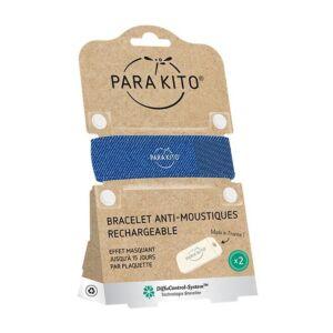Parakito Bracelet Denim Anti-Moustiques + 2 Recharges