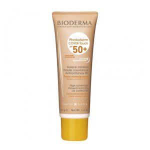Bioderma Photoderm Cover Touch IP50+ Solaire Minéral Peaux Mixtes/Grasses Teinte Dorée Tube 40g