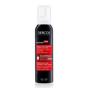 Vichy Dercos Aminexil Chute de Cheveux Mousse Traitement Triple Action Hommes Spray 150ml