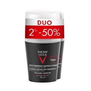 Vichy Homme Déodorant Anti-Transpirant 72h Roll-On Duo 2x50ml