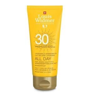 Louis Widmer Sun All Day Lait Solaire Liposomal IP30 Avec Parfum Tube 100ml