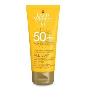 Louis Widmer Sun All Day Lait Solaire Liposomal IP50+ Sans Parfum Tube 100ml