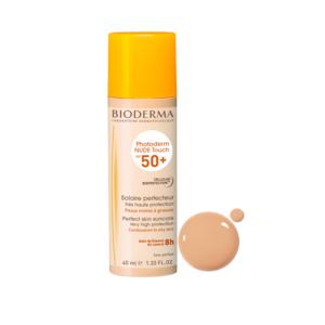 Bioderma Photoderm Nude Touch Solaire Perfecteur Peaux Mixtes à Grasses Teinte Claire IP50+ Spray 40ml