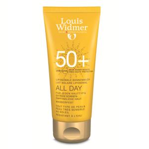 Louis Widmer Sun All Day Lait Solaire Liposomal IP50+ Avec Parfum Tube 100ml