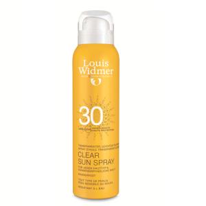 Louis Widmer Clear Sun Spray Transparent IP30 Sans Parfum 125ml