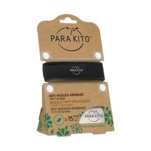 Parakito Bracelet Noir Anti-Moustiques + 2 Recharges