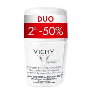 Vichy Déodorant Anti-Transpirant 48h Peau Sensible ou Epilée Roll-On PROMO Duo 2x50ml