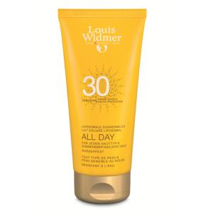 Louis Widmer Sun All Day Lait Solaire Liposomal IP30 Sans Parfum Tube 200ml