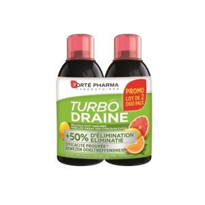 Forté Pharma Turbodraine Citrusvruchten Duopack 2x500ml