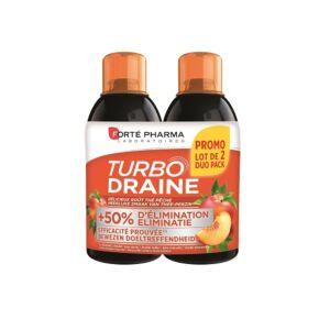 Forté Pharma TurboDraine Thé Vert Pêche Flacon PROMO Duo 2x500ml