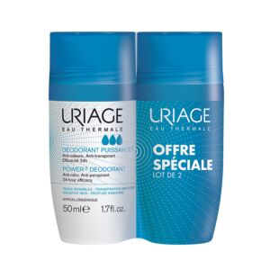 Uriage Déodorant Puissance 3 Roll-On PROMO Duo 2x50ml