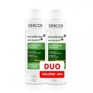 Vichy Dercos Shampooing Anti-Pelliculaire Cheveux Secs Flacon PROMO DUO 2ème -50% - 2x200ml