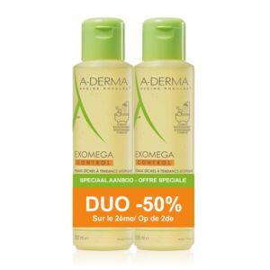 A-Derma Exomega Control Huile Emolliente Anti-Grattage Flacon PROMO Duo 2x500ml -50%