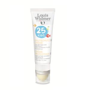 Louis Widmer Sun Kids Crème Protectrice IP25 Sans Parfum Tube 25ml + Stick Lèvres 25ml