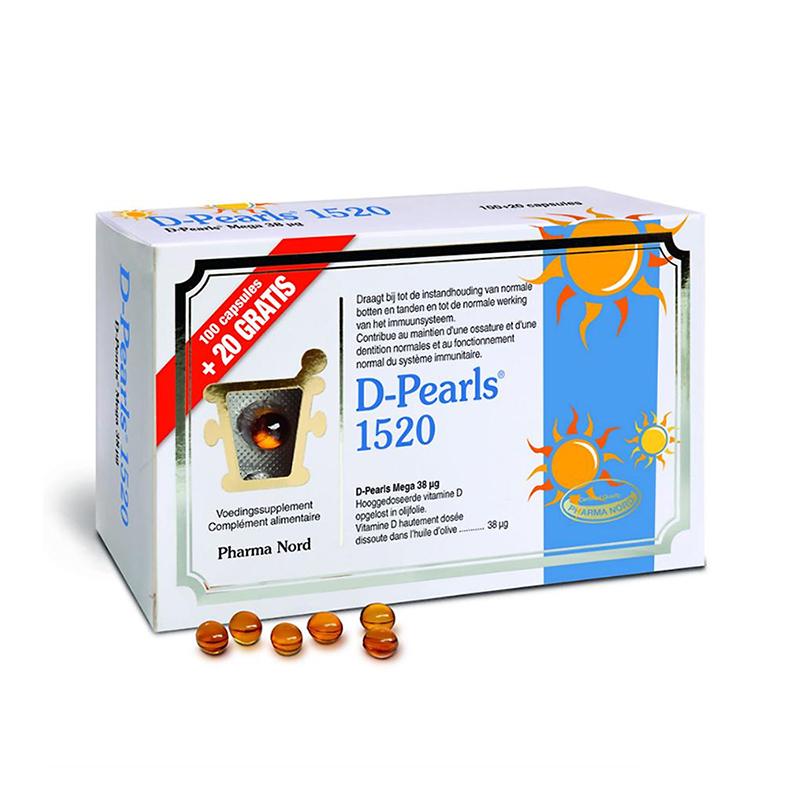 Image of Pharma Nord D-Pearls 1520 Promo 100 Capsules + 20 GRATIS