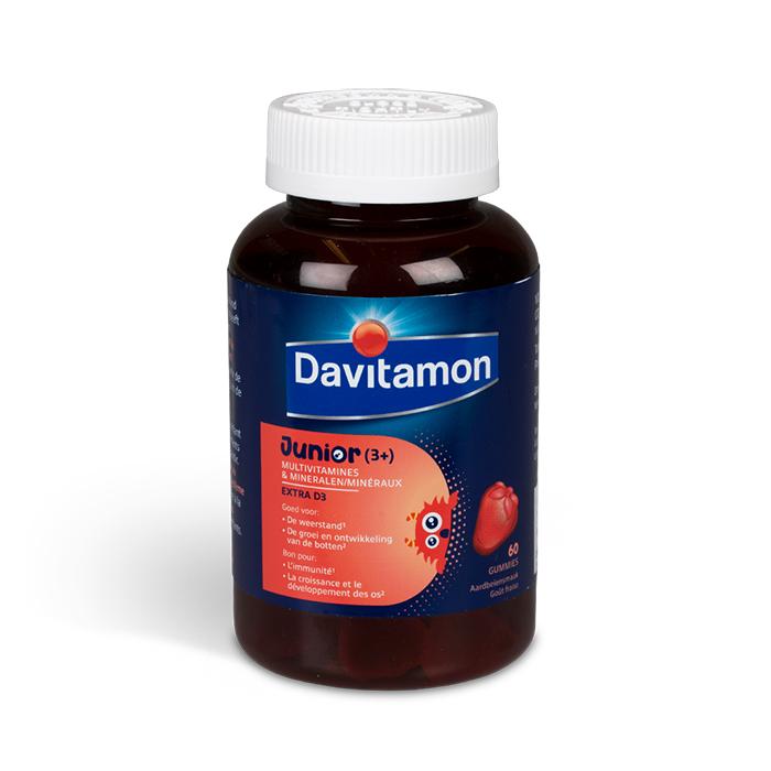 Image of Davitamon Junior Gummies Aardbei 60 Stuks
