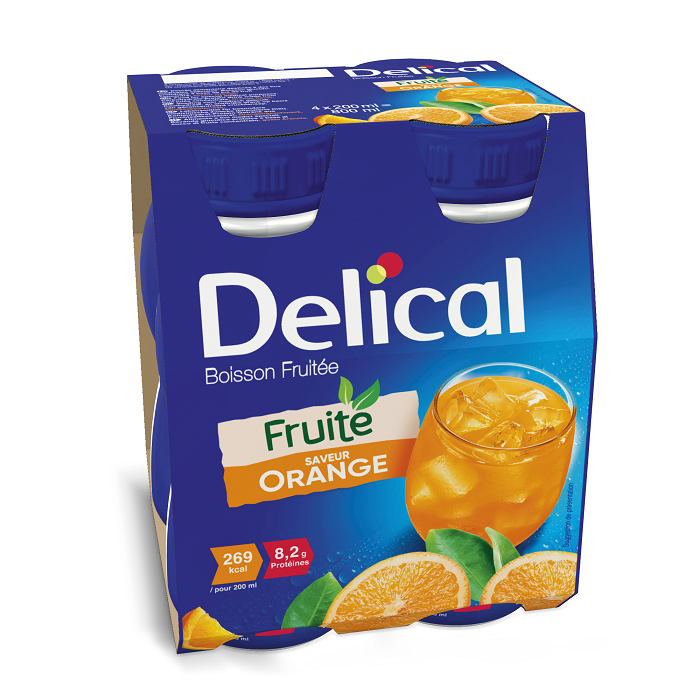 Image of Delical Fruitdrink Sinaasappel 4x200ml
