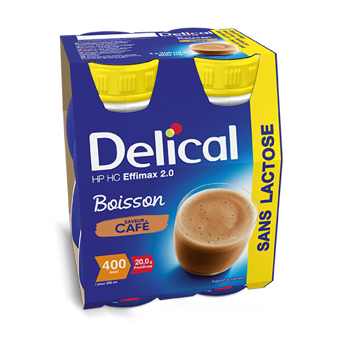 Image of Delical HP-HC Effimax 2.0 Drink Zonder Lactose Koffie 4x200ml