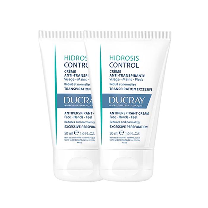 Image of Ducray Hidrosis Control Anti-Transpirant Crème Handen/Voeten/Gelaat 2x50ml Promo 2de - 50%