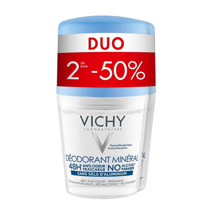 Image of Vichy Deodorant Roller Mineraal 48u Promo Duo 2e -50% 2x40ml