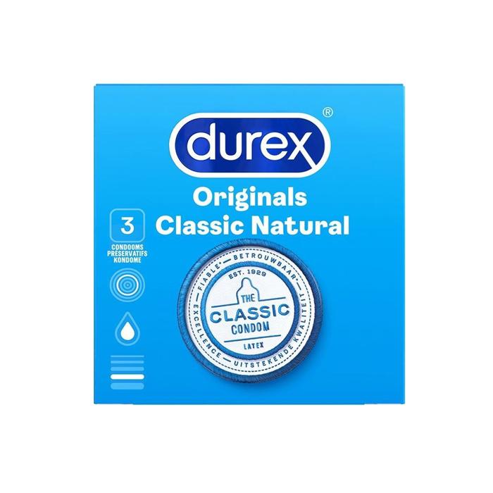 Image of Durex Originals Classic Natural Condooms 3 Stuks