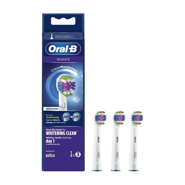 Image of Oral-B Opzetborstel 3D White EB18-3 3 Stuks
