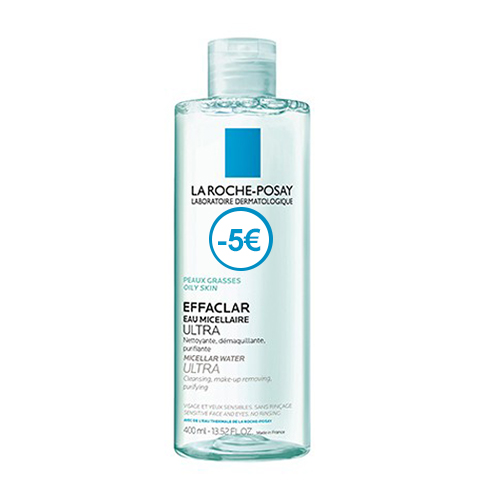 Image of La Roche Posay Effaclar Micellair Water Ultra Vette Huid 400ml Promo - €5