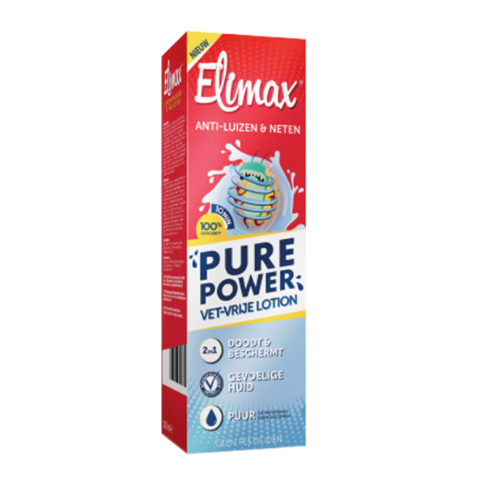 Image of Elimax Pure Power Vetvrije Lotion Anti-Luizen/Neten 100ml NF