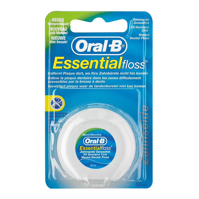 Image of Oral-B Esssential Floss Munt Waxed 50m