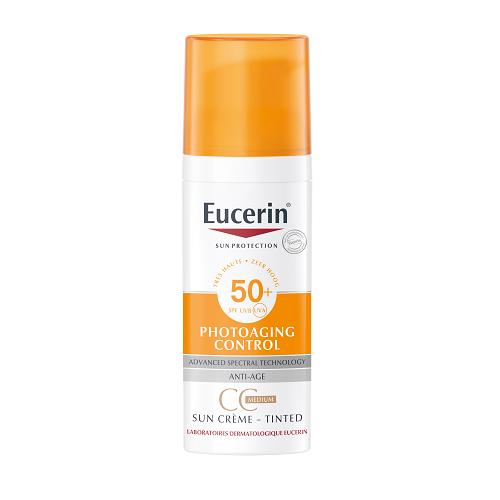 Image of Eucerin Sun CC Crème Medium SPF50+ 50ml