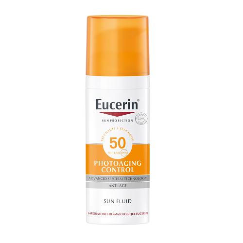 Image of Eucerin Zon Photoaging Control Fluide Anti-Age SPF50+ 50ml