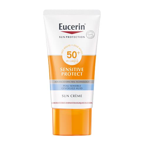 Image of Eucerin Zon Sensitive Protect Crème SPF50+ 50ml