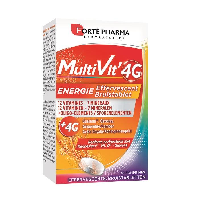 Image of Forté Pharma Multivit' 4G Energie Bruistablet 30 Bruistabletten