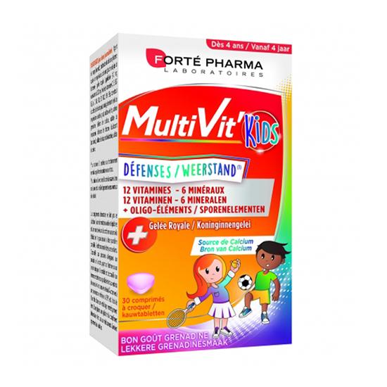 Image of Forté Pharma Multivit' 4G Kids 30 Tabletten