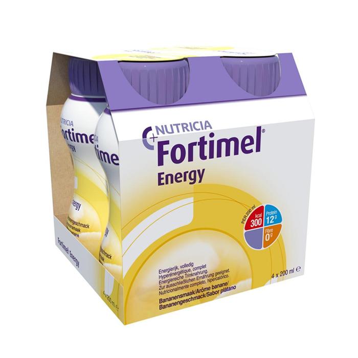 Image of Fortimel Energy Banaan Flesjes 4x200ml